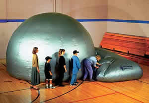 The dome can bet set up in almost any gymnasium!
